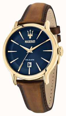 Maserati Epoca绅士棕色皮革表带 R8851118012