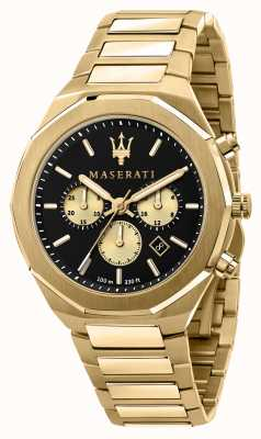 Maserati Stile 计时码表男士镀金 R8873642001