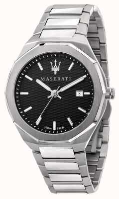 Maserati 男士 stile 3h 数据黑色表盘手表 R8853142003