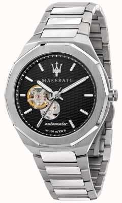 Maserati 男士阶梯自动档|不锈钢手链|黑色表盘 R8823142002