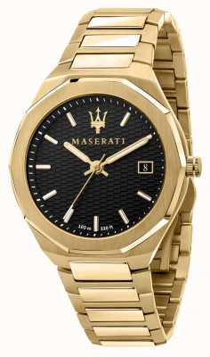 Maserati 男士 stile 3h 数据镀金手表 R8853142004