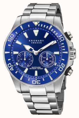Kronaby 潜水员集合|蓝牙|蓝色表盘|不锈钢 S3778/1