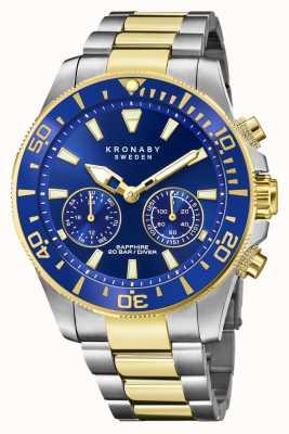 Kronaby 潜水员集合|蓝牙|蓝色表盘|两音钢手链 S3779/1