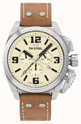 TW Steel Canteen 计时码表奶油色表盘 TW1010