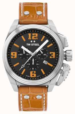 TW Steel Canteen 橙色皮表带 TW1012