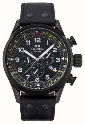TW Steel 瑞士 volante 黑色 pvd 镀不锈钢 SVS205