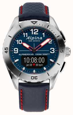 Alpina  高山  智能手表  蓝色皮表带  AL-284LNNR5SSAQ6L