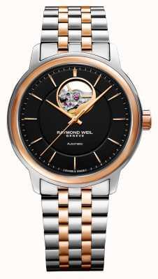 Raymond Weil Maestro 男士双色调黑色表盘腕表 2227-SP5-20021