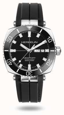 Michel Herbelin 纽波特潜水员黑色橡胶表带手表 1774/AN14CA