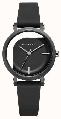 Klasse14 不完美角度32mm黑色硅胶表带 WIM19BK011W