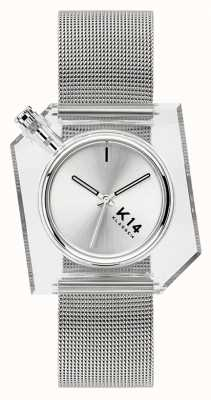 Klasse14 K14 银色米兰尼斯网眼手链 40 毫米 WKF20SR001M