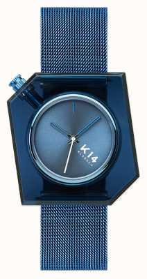 Klasse14 K14 蓝色米兰尼斯网眼手链 40mm WKF20BE002M