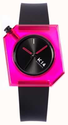 Klasse14 K14粉色娃娃40mm黑色硅胶表带 WKF19PK001M