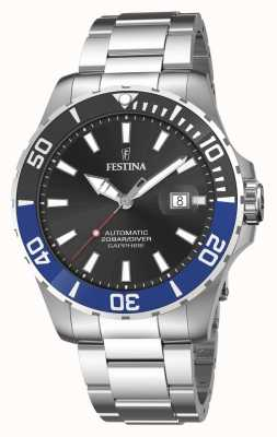 Festina 男士自动上链 44 毫米黑色表盘腕表 F20531/6