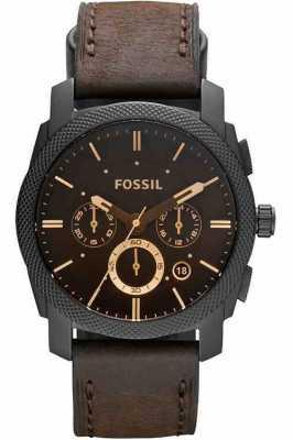 Fossil 男装机械计时棕色手表 FS4656