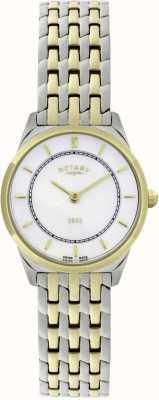 Rotary 女士双色超薄手链手表 LB08001/02