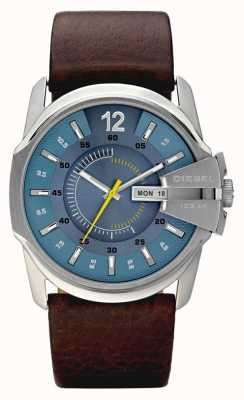 Diesel 男士蓝色表盘棕色真皮表带手表 DZ1399
